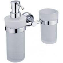 NIMCO UNIX dávkovač na mýdlo a držák do sklenky 195x190x101mm chrom UN 1305831W-26
