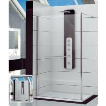 Zástěna sprchová boční Ronal sklo FUN 1400x2000 mm aluchrom/čiré AQ