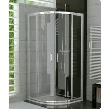 Zástěna sprchová čtvrtkruh Ronal sklo TOP-line 1000x1900 mm aluchrom/čiré AQ