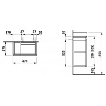 Nábytek skříňka pod umyvadlo Laufen Pro 97x45x39 cm multicolor 33 - šedá