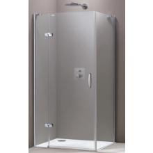 Zástěna sprchová boční Huppe sklo Aura elegance na podlahu Akce 900x2000 mm stříbrná matná/čiré AP