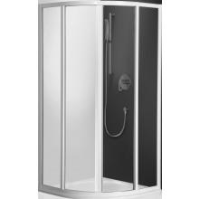 ROLTECHNIK CLASSIC LINE CR2/1000 sprchový kout 1000x1850mm čtvrtkruhový, s dvoudílnými posuvnými dveřmi, stříbro/chinchilla