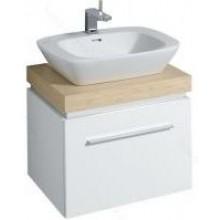 KERAMAG SILK skříňka pod umyvadlo 60x40cm s umyvadlovou deskou, bílá lesklá 816062000