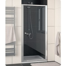 Zástěna sprchová dveře Ronal sklo ECO-line 800x1900 mm aluchrom/durlux AQ