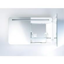 Nábytek zrcadlo Duravit PuraVida s osvětlením 41x72 cm bílá vysoký lesk