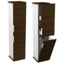KOLO TWINS postranní skříňka 31,5x140cm vysoká, závěsná, bílá/wenge 88399000