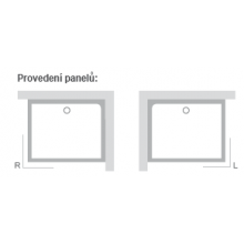 RAVAK GIGANT PRO SET L panel 1100x800mm levá XA83DL01010