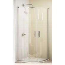 Zástěna sprchová čtvrtkruh Huppe sklo Design elegance (NUTNO OBJEDNAT 2 KS!) 900x1900 mm, R500 stříbrná lesklá/čiré AP