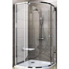 Zástěna sprchová čtvrtkruh Ravak sklo Pivot PSKK3-80 800x1900/R500 bílá/bílá/transparent
