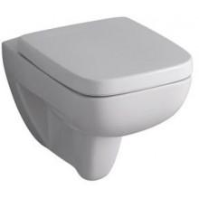 WC závěsné Keramag odpad šikmý Renova Nr.1 Plan s hlubokým splachovaním 4,5 l/6 l bílá+KeraTect