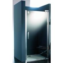 HÜPPE REFRESH PURE STS 900 pivotové dveře 900x2043mm pro niku, stříbrná lesklá/karo anti-plague 9P0405.092.312