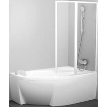 RAVAK ROSA VSK2 vanová zástěna 1400x1500mm rámová, dvoudílná, pravá, bílá/transparent 76P70100Z1