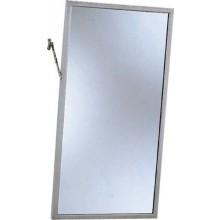 Doplněk zrcadlo - nástěnné zrcadlo v nerez rámu vyklopené 410x760 mm