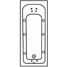 Příslušenství k vanám - - hydromasážní systém 6xstand.trysk 4xmikrotrys