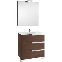 Nábytek sestava Roca Pack Victoria-N skříňka s umyvadlem+zrcadlo s osvět. 90 cm antracit
