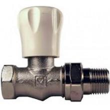 """HERZ radiátorový ventil GP1/2"""" dvouregulační, přímý, s omezením zdvihu, poniklovaný"""