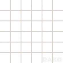 RAKO RUSH mozaika 30x30cm, lepená na síťce, černá