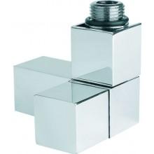"""P.M.H. CUBE připojovací ventil 1/2"""", pro koupelnové radiátory, chrom"""