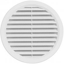HACO VM 110 větrací mřížka prům. 105mm, kruhová, se síťovinou, bílá