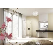 HÜPPE DESING ELEGANCE sprchové dveře 900x2000mm, křídlové, sklapovací, černá/šedá