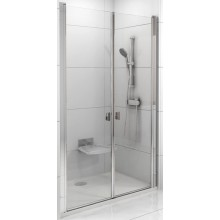 RAVAK CHROME CSDL2 90 sprchové dveře 875-905x1950mm dvoudílné satin/transparent 0QV7CU0LZ1