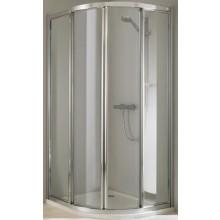 Zástěna sprchová čtvrtkruh Huppe - 501 Classics 90x190 cm stř.mat./čiré