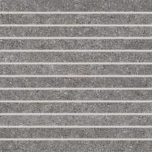 Dlažba Rako Rock Pruhy 30x30 cm tmavě šedá