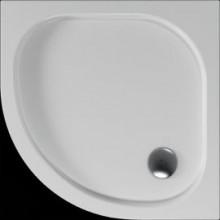 Vanička plastová Teiko čtvrtkruh - 80x80x3,5cm bílá