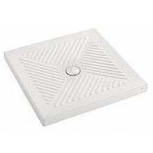 Vanička keramická Kolo čtverec Abele samonosná 90x90x7 cm (pr. 90 mm) bílá