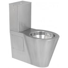 SANELA SLWN 16 WC kombi 360x700x825mm, s nádržkou, pro tělesně handicapované, nerez mat
