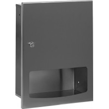 SANELA SLZN56Z zásobník papírových ručníků, k montáži pod omítku, antivandal, nerez mat