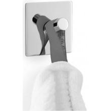 ZACK DUPLO háček na ručník 5x5cm čtvercový, nerez ocel/vysoký lesk