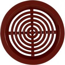 HACO VM 50 větrací mřížka prům. 46mm, kruhová, bez síťoviny, hnědá