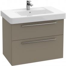 Nábytek skříňka pod umyvadlo Villeroy & Boch Verity Design 750x575x450mm antracitová lesk
