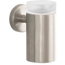 HANSGROHE LOGIS sklenička na ústní hygienu 126mm, kartáčovaný nikl/sklo 40518820