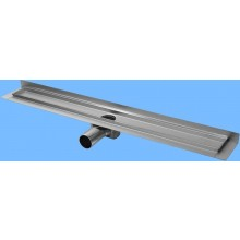 CONCEPT 50 podlahový žlab 885mm, se zadní vertikální přírubou, nerez ocel