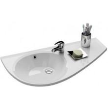 RAVAK AVOCADO speciální umyvadlo nábytkové 850x450x124mm z litého mramoru, pravé s otvorem, bílá