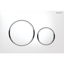 GEBERIT SIGMA 20 ovládací tlačítko 24,6x1,2x16,4cm, bílá/pochromovaná lesklá/bílá
