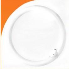 Vanička plastová Roltechnik čtvrtkruh Bajkal na podezdění 900x900x45 bílá