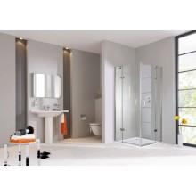 CONCEPT 300 sprchové dveře 1200x1900mm, křídlové, s pevným segmentem, levé, stříbrná/čiré