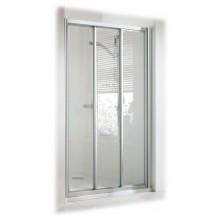 DOPRODEJ CONCEPT 100 sprchové dveře 900x900x1900mm posuvné, rohový vstup, 3 dílné s pevným segmentem, stříbrná/matný plast PT2013.087.264