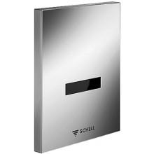 SCHELL EDITION E infra-senzorový splachovač pisoáru 124x153,5mm, chrom
