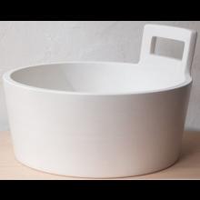 JIKA ART džber průměr 410mm, bez otvoru, bílá 8.1014.1.000.104.1