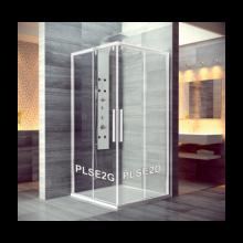 SANSWISS PUR LIGHT S PLSE2 sprchové dveře 900x2000mm, dvoudílné posuvné, rohový vstup, pravý díl, bílá/čirá