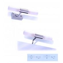 Nábytek příslušenství Lebon Pirex Doppia osvětlení 215x40(95x50)mm chrom/mléčné sklo