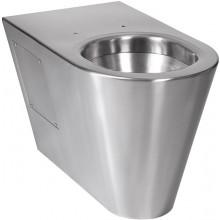 SANELA SLWN14 WC 360x655x400mm, na podlaze stojící, bez sedátka, antivandal, nerez mat