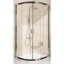 Zástěna sprchová čtvrtkruh Ravak sklo Blix BLCP4-90 900x1900 mm satin/Grafit
