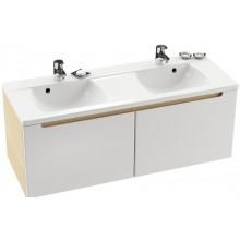 Nábytek skříňka pod umyvadlo Ravak SD Classic 1300 pod dvojumyvadlo 130x47x49cm bříza/bílá