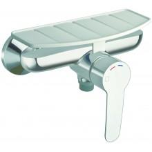 Baterie sprchová Cristina nástěnná páková New Day s odkládací poličkou 150mm chrom