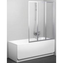 Zástěna vanová dveře Ravak plast VS3 115 Be Happy 160 1146x1400 bílá/rain